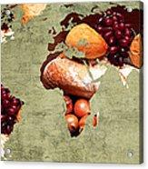 Abstract World Map - Harvest Bounty - Farmers Market Acrylic Print