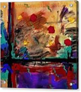 Abstract Yellow Horizontal Acrylic Print