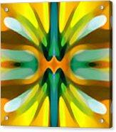 Abstract Yellowtree Symmetry Acrylic Print by Amy Vangsgard