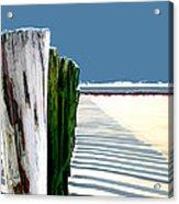 Abstracted Beach Dune Fence Acrylic Print