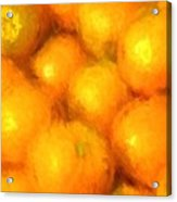 Abstracted Oranges Acrylic Print