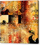 Abstracture - 103106046f Acrylic Print by Variance Collections