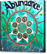 Abundance Money Magnet - Healing Art Acrylic Print