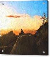 Acadia Bass Harbor Head Lighthouse Silhouette Acrylic Print