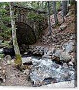 Acadia National Park Carriage Road Bridge Acrylic Print