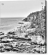 Acadia National Park In Bw Acrylic Print
