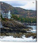 Acadia Seaside Mansion Acrylic Print