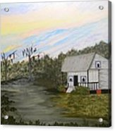 Acadian Home On The Bayou Acrylic Print