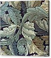 Acanthus Leaf Design Acrylic Print by William Morris