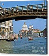 Accademia Bridge In Venice Italy Acrylic Print