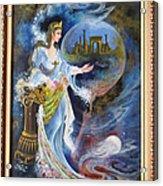 Achaemenian Lady Persian Miniature Painting  Acrylic Print