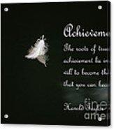 Achievement Acrylic Print