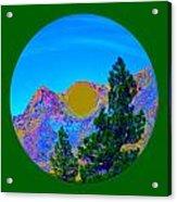 Acid Desert Orb 2 Acrylic Print