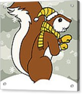 Acorn Winter Acrylic Print
