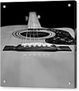Acoustic Black And White Acrylic Print