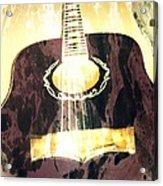 Acoustic Guitar - In The Studio Acrylic Print