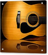 Acoustic Guitar Reflected Acrylic Print
