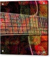 Acoustic Palette Digital Guitar Art By Steven Langston Acrylic Print by Steven Lebron Langston