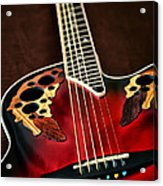 Acoustical Red Acrylic Print