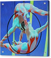 Acrobats Acrylic Print by Kevin Lawrence Leveque