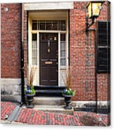 Acorn Street Door And Lamp Acrylic Print