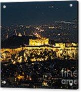 Acropolis At Night Acrylic Print