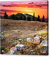 Acropolis Of Eretria  Acrylic Print