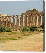 Acropolis Of Selinunte Acrylic Print