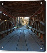 Across The Bridge And Through The Woods Acrylic Print
