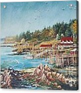 Across The Bridge Acrylic Print by Joy Nichols