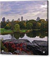 Across The Pond 2 - Central Park - Nyc Acrylic Print