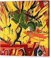 Action Abstraction No. 1 Acrylic Print