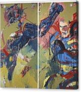Action Abstraction No. 20 Acrylic Print