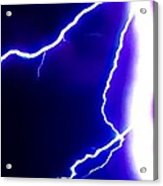 Actual Lightning In Zoom Image Acrylic Print