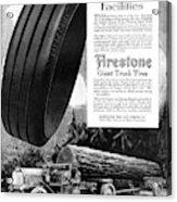 Ad Firestone, 1918 Acrylic Print