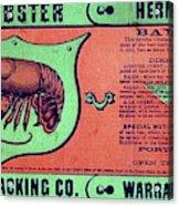 Ad Lobster, C1867 Acrylic Print