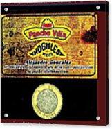 Ad  Pancho Villa Bar  Nogales Sonora Mexico 2013  Acrylic Print