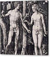 Adam And Eve Engraving Acrylic Print