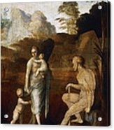 Adam And Eve With Cain And Abel Acrylic Print