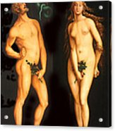 Adam Eve And The Serpent Acrylic Print