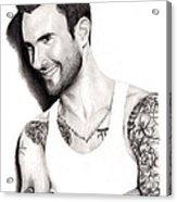 Adam Levine Acrylic Print