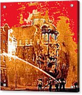 Adams Hotel Fire 1910 Phoenix Arizona 1910-2012 Acrylic Print