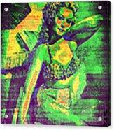 Adele Mara - 1940s Pin Up Acrylic Print