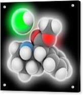 Adhd Drug Molecule Acrylic Print