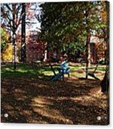 Adirondack Chairs 2 - Davidson College Acrylic Print