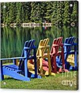 Adirondacks At Jasper Lodge Acrylic Print