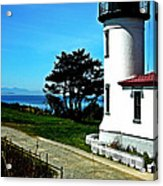 Admiralty Head Lighthouse View  Acrylic Print