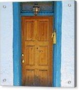 Adobe House Door Acrylic Print