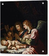 Adoration Of The Angels Acrylic Print
