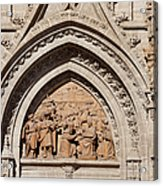 Adoration Of The Three Wise Men Relief Acrylic Print